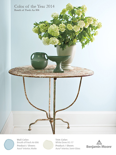 Color trends for Benjamin moore breath of fresh air